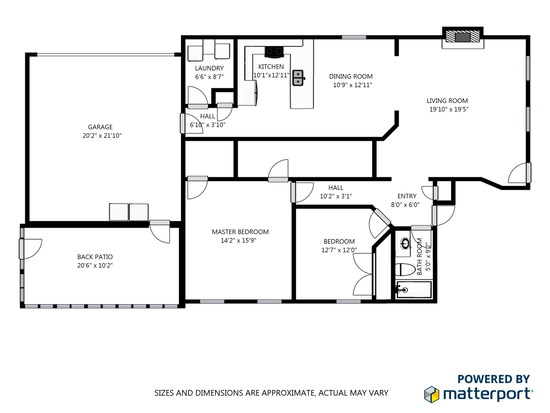 Matterport 2D Floor Plan